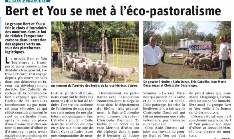 Bert & You se met à l'éco-pastoralisme