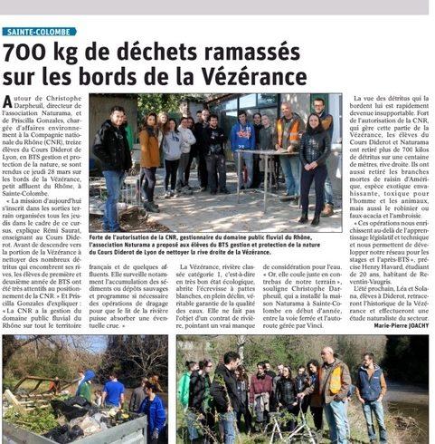 700 kg de déchets ramassés sur les bords de la Vézérance