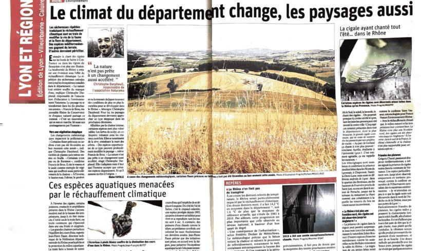 Le climat du département du Rhône change, les paysages aussi