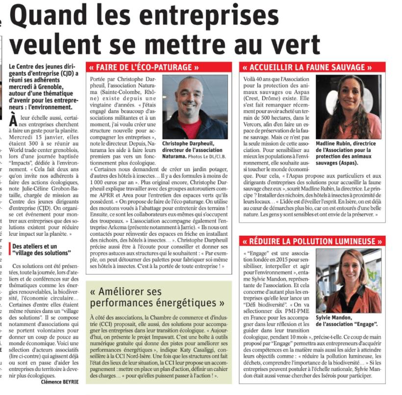 Le CJD Grenoble se mobilise pour l'environnement